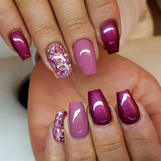 glitter gel nail designs for short nails for spring 2019 15 ~ thereds.me – glitter gel nail designs for short nails for spring 2019 15 ~ thereds.me – glitter. Winter Nail Designs, Short Nail Designs, Christmas Nail Art Designs, Gel Nail Art, Gel Nails, Nail Polish, Coffin Nails, Acrylic Nails, Fingernails Painted