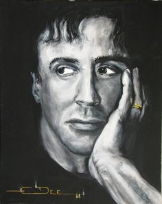 Sylvester Stallone Painting by Eric Dee