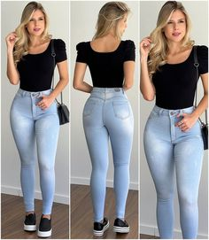 Curvy Girl Outfits, Casual Outfits, Mom Jeans, Skinny Jeans, Gorgeous Women, How To Look Better, Girl Fashion, My Style, Model