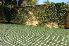 Drive On Grass Pavers | Drive-on turf pavers allow for an interesting paving material softened ...