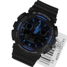 575ee62c2f8 Casio Analog Digital Sports Mens Watch GA-100-1A2DR