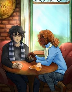 One thing that bothers me about this Nico/Hazel fan art is that they always look like a couple. Now looks like they're on date. Their relationship is very weird... But I love them, really