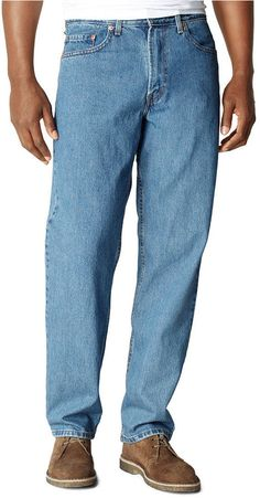 $57, Levi's Big And Tall 550 Relaxed Fit Medium Stonewash Jeans. Sold by Macy's. Click for more info: https://lookastic.com/men/shop_items/56323/redirect