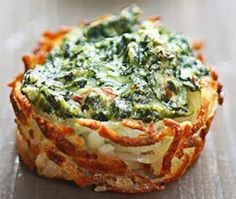 Simply Potatoes: Spinach and Goat Cheese Hash Brown Nests Recipe sounds like a delicious brunch option I Love Food, Good Food, Yummy Food, Vegetarian Recipes, Cooking Recipes, Cooking Tips, Appetizer Recipes, Appetizers, Appetizer Ideas