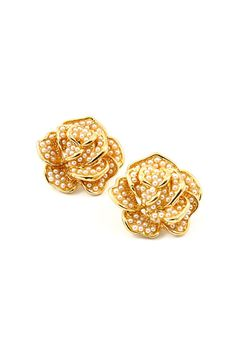 Pearlescent Rose Earrings