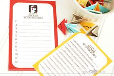 Spouse Scattergories- a printable game for date night
