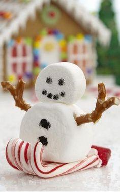 Sledding Marshmallow Snowman