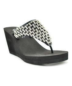 Black Crown Sandal