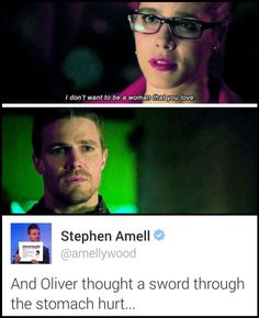 #CaptainAmell #Olicity duh We all felt that same feeling!!! Gawd, get it together!!!!