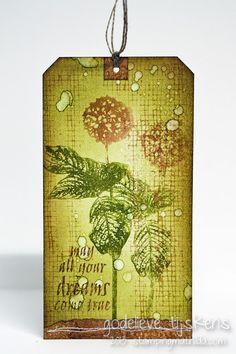 Tag by Godelieve Tijskens using Art De Fleur Vol 2 Rubber Stamps by #darkroomdoor