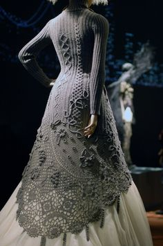 Knit and Crochet wedding dress....gasp!