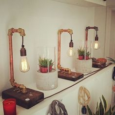 Love these industrial desk lamps by @elevanco! So cool! #IDCDesigners
