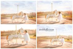Carousel Imagining | Nikkala Anne Photography girl photo session photography inspiration carousel horse feathers country road
