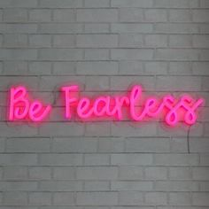 Be fearless in the pursuit of what sets your soul on fire. Keep yourself focused with a beautiful neon sign for your space! Buy our Be Fearless LED neon sign or a custom neon sign from Brite Lite Tribe and live a colourful life! Pink Wallpaper Girly, Wallpaper Iphone Neon, Cute Wallpaper Backgrounds, Pretty Wallpapers, Wings Wallpaper, Custom Neon Signs, Led Neon Signs, Pink Neon Sign, Pink Neon Lights