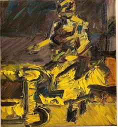 J Y M seated in the Studio VI Frank Auerbach