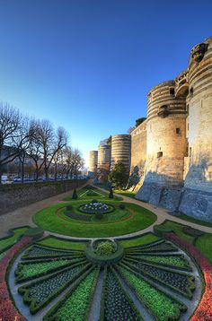 """""""Angers Chateau Gardens"""" by amirpaz on Flickr ~ Chateau d'Angers, France"""