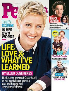 ON NEWSSTANDS 2/21/14: Ellen DeGeneres 'Falls More in Love with Portia All the Time.' Plus: Bruce Jenner's transformation and more