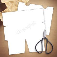 Folder Insert Template for #Pocket Size Traveler's Notebook - Easy to Print & Cut Template Files  #tnfolder #tn