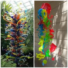 CHIHULY Inspired Sun Catcher Made From Recycled Plastic Drinking Cups - Preheat the oven to 300 degrees. I use a regular cookie sheet lined with parchment to pu… Recycling Containers, Plastic Containers, Plastic Crates, Plastic Recycling, Garden Globes, Plastic Cups, Plastic Bottles, Soda Bottles, Plastic Waste