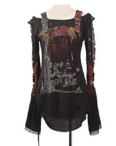 Punk Rock/Gothic Cardigan Tee Shirt Top
