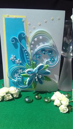 Paper Quilling Greeting Card Floral Greeting Card Blank