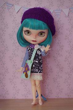 OOAK Custom Blythe doll on by splattergirluk
