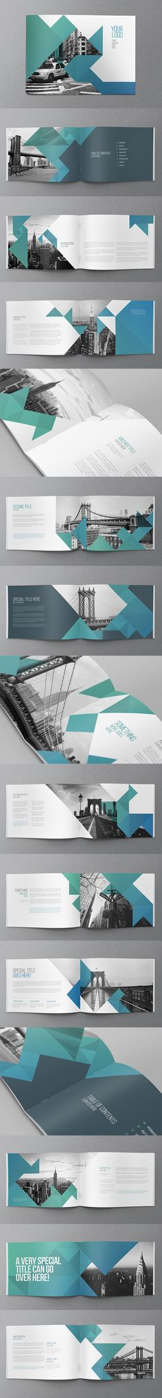 Cool Modern Brochure - Brochures Print Templates Clean, modern and simple design ideal for any purposes. Very easy to adapt and customize. Brochure Indesign, Design Brochure, Booklet Design, Brochure Layout, Branding Design, Brochure Template, Layout Design, Graphisches Design, Graphic Design Layouts