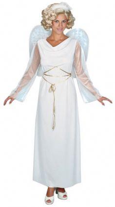 Angel Costume for Women Adult Christmas Nativity or Halloween Fancy Dress