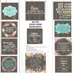May 2016 Visiting teaching Printable booklets