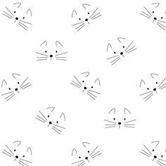 Today I created a free digital kitty cat pattern paper for you! The ink saving black and white...