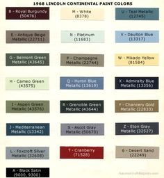 auto paint codes auto paint colors codes pinterest. Black Bedroom Furniture Sets. Home Design Ideas