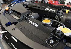 WRX BLACK Perrin for 2008-2014 Subaru Impreza STi Upper Radiator Stays Kit