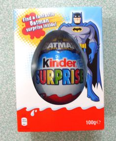 LARGE MAXI KINDER SURPRISE EASTER EGG WITH COOL BATMAN TOY INSIDE