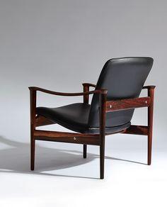Frederik A. Kayser; #711 Rosewood Armchair for Vatne Lenestolfabrikk, 1960.