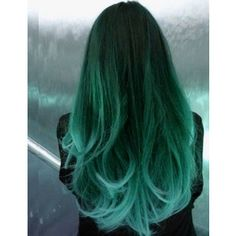 brown teal ombre hair - Google Search