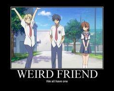 I think I'm the weird friend. :O - clannad - I think I'm the weird friend… :O – clannad - Got Anime, I Love Anime, Otaku Anime, Manga Anime, Clannad After Story, Tsurezure Children, Otaku Issues, Anime Rules, Film D'animation