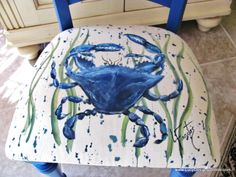 Lucy Designs: Hand Painted Designs on Fabric, Chair Cushions, Pillows, Christmas Stockings, Hand Painted Fabrics and How to Paint On Fabric Hand Painted Chairs, Hand Painted Fabric, Hand Painted Furniture, Painted Stools, Cushion Fabric, Chair Fabric, Chair Cushions, Wingback Chairs, Diy Chair