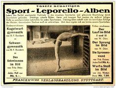 Original-Werbung/ Anzeige 1922 - SPORT - LEPORELLO ALBEN / FRANCKH'SCHE VERLAGSHANDLUNG STUTTGART - 135 x 100  mm