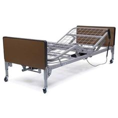 Patriot Full Electric Bed Bed with Mattress & Half Rails -   The Delta 1000 is truly universal because the headboards and footboards are completely interchangeable with Drive's and most other manufacturers bed ends old and new. The transition box mounted on the foot section is key to interchangeability. The transition box allows you to change the rotation of the high-low shaft. Headboard is taller than footboard to better fit home decor.