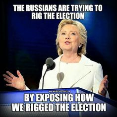 That's about right!!!!! I don't believe the Russians rigged the election though!!!!