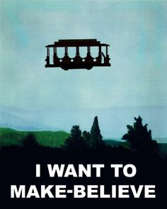 """""""I Want to Make-Believe"""" -- Mister Roger's Neighborhood/The X-Files poster mash-up."""