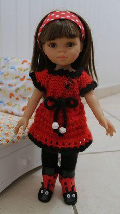 pattern on website Crochet Doll Clothes, Doll Clothes Patterns, Clothing Patterns, Nancy Doll, Knit Crochet, Crochet Hats, Chloe Dress, Wellie Wishers, Beautiful Dolls