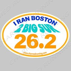 Charmed Running Training For Boston Marathon 26.2 Distance 2020 Car Magnet