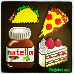 Food perler beads by chr1spn