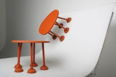 Rubber Plunger Table by Thomas Schnur