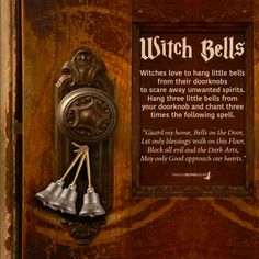 Witch Bells and how to Use them - Magical Recipes Online Wiccan Spell Book, Wiccan Witch, Magick Spells, Witch Spell, Green Witchcraft, Spell Books, Pagan Yule, Healing Spells, Healing Quotes