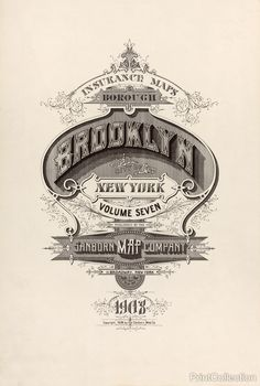 The cover page from the 1908 Sanborn Fire Insurance Map from Brooklyn, New York, Bronx, Kings, Queens, Richmond, New York. åÊ