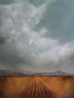 """Through the Fields we Ran"" 36x48 oil on panel adamhallart.com Landscape Art"