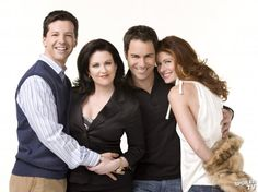 WILL AND GRACE -- Sean Hayes, Megan Mullally, Eric McCormack, Debra Messing (Jack, Karen, Will and Grace). Funny cast and show.