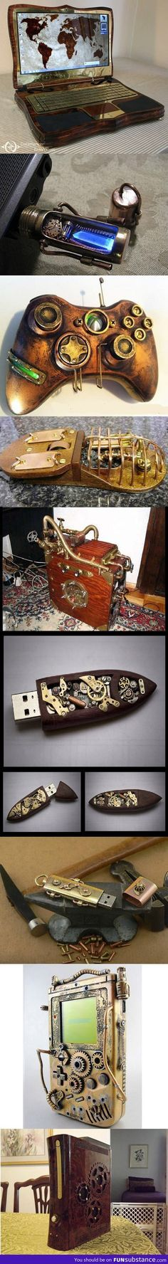 Steampunk gadgets <3 I blame Bioshock and Dishonored for creating my love of anything steampunk or biopunk!